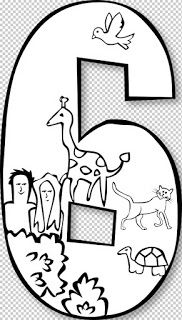 Creation Day Number Ge Black White Art Coloring Book 555px