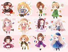 Chibi Anime Gallery: Nyotalia Chibi