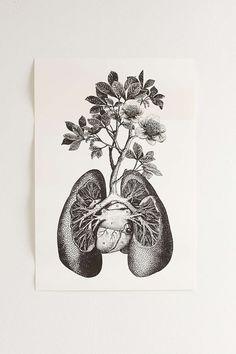 Cirque DArt Lungs Art Print - Urban Outfitters