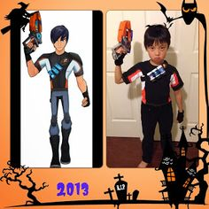 Eli Shane Costume. Halloween CostumesOctober 2013  sc 1 st  Pinterest & DIY Costume for Eli Shane from Slugterra | Slugterra bday ...
