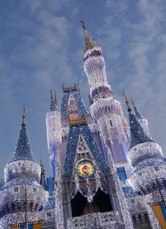 Cinderella's castle at Christmas time :)