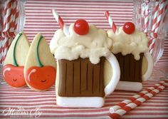 Root Beer Floats by Melissa Joy Fanciful Cookies & More