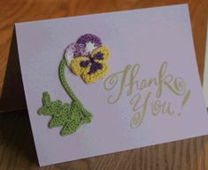 Crochet Flower Mothers Day Card w/pattern!