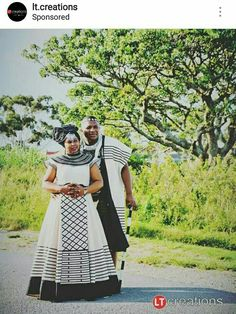 Xhosa attire Long African Dresses, African Print Dresses, African Fashion Dresses, African Traditional Wedding Dress, African Fashion Traditional, Traditional Outfits, African Wedding Attire, African Attire, African Weddings