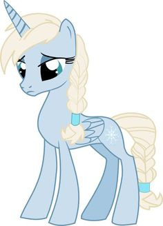 Elsa as a MLP (my little pony) I think its perfect!!1
