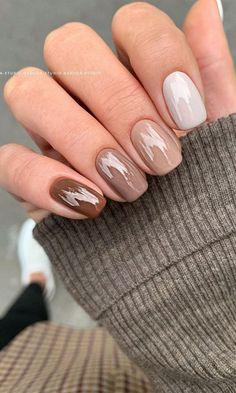 Chic Nails, Stylish Nails, Trendy Nails, Pretty Nail Colors, Fall Nail Colors, Nuetral Nail Colors, Pretty Nail Art, Cute Acrylic Nails, Gel Nails
