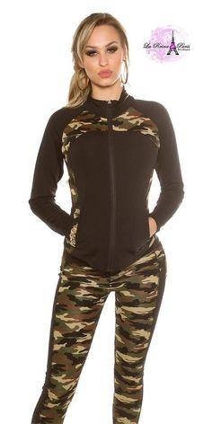Chaqueta fitness camufalje militar