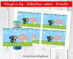 Woezel en Pip bellenblaas wikkel bellenblaas printable om