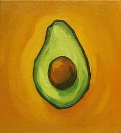 Art Painting Gallery, Hand Painting Art, Gouache Painting, Small Canvas Paintings, Canvas Painting Landscape, Avocado Art, Giraffe Art, Fruit Painting, Yellow Art