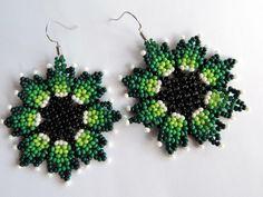 7 pairs of earrings from Ellen Vasjanovich Seed Bead Jewelry, Bead Jewellery, Seed Bead Earrings, Beaded Jewelry, Beading Techniques, Beading Tutorials, Beaded Earrings Patterns, Beading Patterns, Types Of Earrings