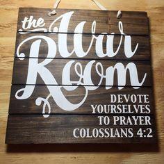 War Room Sign Wood Sign Pallet Sign Prayer by brownpaperpackaging