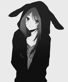 Girl in Bunny Hoodie