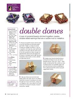 Should you have a passion for jewelry you'll will appreciate this cool info! Beads Jewelry, Beaded Jewelry Patterns, Beaded Earrings, Beaded Bead, Jewellery, Seed Bead Patterns, Beading Patterns, Bead Store, Beads And Wire