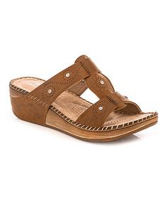 Love this Tan Whipstitched Sandal on #zulily! #zulilyfinds
