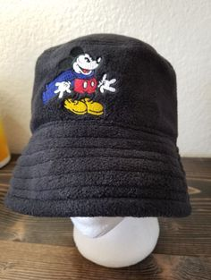 bf10e683b7b Details about Vintage Goofy s Hat Co Mickey Mouse Hat Cap Disneyland Black  Cloth