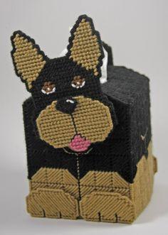 everything plastic canvas | Plastic Canvas- 3D Doberman Tissue Topper Plastic-Canvas-Kits.Com