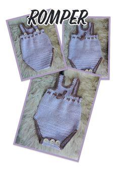heklet romper Burlap, Reusable Tote Bags, Rompers, Design, Jumpsuits, Hessian Fabric, Blanket Sleeper, Romper, Onesies