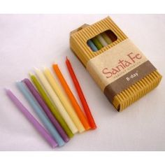 Decorations | Birthday Candles and Centerpiece | Beeswax Birthday Candles Multi Colored -24pk | Green Toys, Gifts & Party Supplies at Green Party Goods