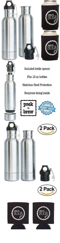 Corkscrews and Openers 20688: 2 Brew Stainless Steel Beer Bottle Insulator And Free Bottle Opener + 2 Can Sleeve -> BUY IT NOW ONLY: $38 on eBay!