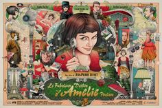 "Amelie alternative movie poster by Ise Ananphada ""Amelie is an innocent and… Amelie, Movie Synopsis, Paris Girl, Destin, Alternative Movie Posters, Geek Art, Cultura Pop, Illustrations And Posters, Pictures To Draw"