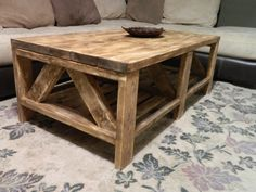 Rustic Coffee Table by SincerelyYoursTruly on Etsy