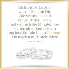 und jede Stunde ist ein Diamant...  eine wunderschöne Liebeserklärung <3  #Diamanten #Spruch #Liebe #Poesie #Zeit