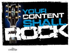Your Content Shall Rock. A primer on how to strike a chord with your content. There are 16 lessons for creating all kinds of content that shall rock the web. Seo Marketing, Content Marketing, Digital Marketing, Customer Engagement, Microsoft Powerpoint, Brand Building, Blog Love, Buisness, Blog Design