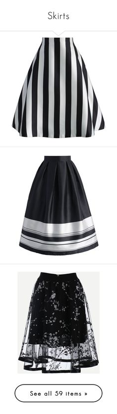"""""""Skirts"""" by bizzibilli ❤ liked on Polyvore featuring skirts, black, a-line skirts, stripe midi skirt, striped skirt, striped midi skirt, knee length flared skirts, pleated midi skirt, patterned skirts and knee length a line skirt"""