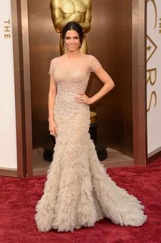 Jenna Dewan Tatum in Reem Acra | All The Most Beautiful Blush Gowns From The Oscars Red Carpet