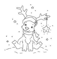 Sliekje digi Stamps: Funny Rudolph