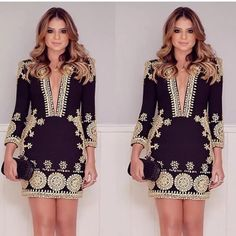 fashion sexy long sleeves dress