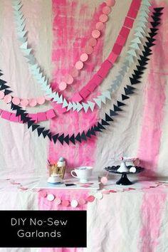 DIY Guirnaldas de papel que no hace falta coser