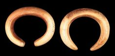 Cuff bracelet  Nubian, Early Kerma, 2400–2050 B.C. This is one of two cuff bracelets found on the wrist of a deceased individual. This one has squared ends, while the other has rounded ends. Found in Kerma, Nubia (Sudan), made from ivory
