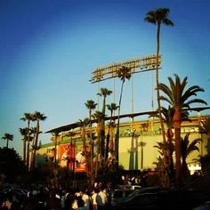 THINK BLUE: Located in Chavez Ravine beautiful Dodger Stadium seats 56000 and was the home of the 1980 All Star game and the 1984 Olympic baseball tournament. #baseball #losangeles #LA #dodgers #olympic #allstar #cali #california #westcoast by stadiumland1