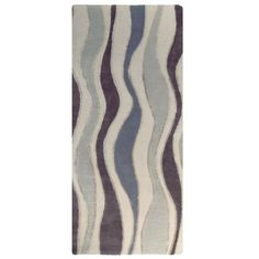 River Flow Wool Grey Area Rug