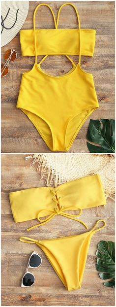 Up to 80% OFF! Bandeau Lace Up Bikini Top And Thong Bottoms. #Zaful #Swimwear #Bikinis zaful,zaful outfits,zaful dresses,spring outfits,summer dresses,Valentine's Day,valentines day ideas,cute,casual,fashion,style,bathing suit,swimsuits,one pieces,swimwear,bikini set,bikini,one piece swimwear,beach outfit,swimwear cover ups,high waisted swimsuit,tankini,high cut one piece swimsuit,high waisted swimsuit,swimwear modest,swimsuit modest,cover ups,swimsuit cover up @zaful Extra 10% OFF…
