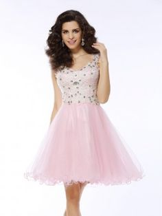 A-Line/Princess Sweetheart Applique Sleeveless Short/Mini Satin Cocktail Dresses