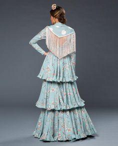 2020_MUJER_TRAJE FLAMENCA_AGUITA_Verde_10-Editar Flamenco Costume, Costumes, My Style, Womens Fashion, Skirts, Clothes, Dresses, Art, Templates