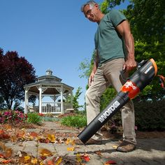 Consider using a leaf blower, such as the WORX TURBINE 600 Electric Blower to turbo blast dust & cobwebs from corners & other hard to reach places. Display Block, Tool Sheds, Leaf Blower, Variables, Outdoor Power Equipment, Colorful Backgrounds, Leaves