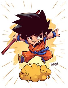 Chibi Goku by dereklaufman Chibi Goku, Character Drawing, Comic Character, Character Design, Cartoon Art, Cartoon Characters, Logo Super Heros, Chibi Marvel, Dragon Ball Z