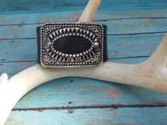 Vintage Shoe Clip Leather Cuff