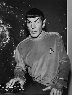 "Mr. Spock, in the 2nd pilot of Star Trek, ""Where No Man Has Gone Before"" (behind the scenes)"