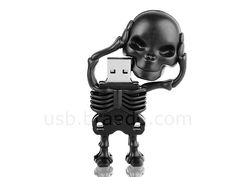 Skull USB -M4U- cool gothic skeleton robot memory stick for all sci fi fantasy geeks too cute way to give your rocking mr. right a valentines gift by filling it with pictures , photos and songs that mean the world to you dark on the outside but with all the romance and heart hidden within just like real valentines do