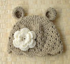 crochet Animal baby hat...pretty!