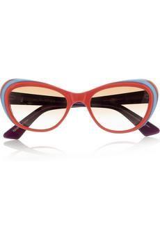 bcb71d36fd8d SELIMA OPTIQUE Grace cat-eye frame acetate sunglasses - statement or the  beach