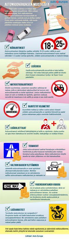 Infografiikka: Autonvuokrauksen muistilista - Muut infografiikkamme löydät täältä: www.autoeurope.fi