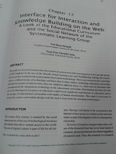 Interface for Interaction and Knowledge Building on the Web: A Look at the Educational Curriculum and the Social Network of the Systematic Learning Group