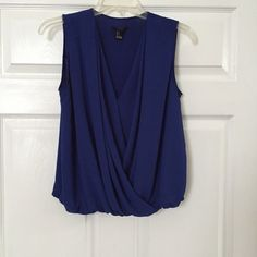 Royal draped top Like new Forever 21 Tops Blouses