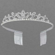 TIARA - RHINESTONE TIARA - BRIDAL TIARA - WEDDING JEWELRY-  BIRTHDAY TIARA #Tiara