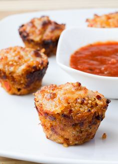 Easy Quinoa Pizza Bites are like mini delicious and healthy pizzas, and great for Super Bowl or any parties!